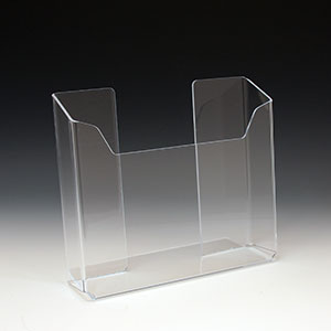 Acrylic Brochure Holder ABH-9802 for Brochures or Pamphlets up to 6.25 inches wide