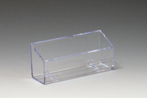 Stick on business card pocket - clear plastic