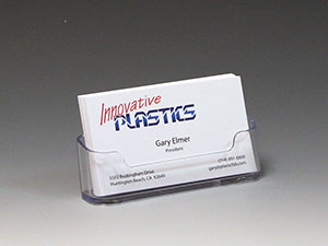 Clear Plastic Business Card Holder - CS-55