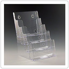 Four Pocket Plastic Brochure Holder TK6-4sm