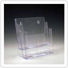 Two Tier Plastic Brochure Holder TK85-2