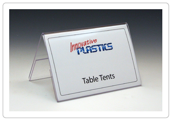 Table Tents - Clear Acrylic Table Tents